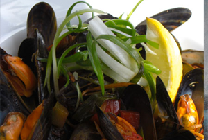 Steamed West Coast Mussels with Black Bean and Pepper Sauce