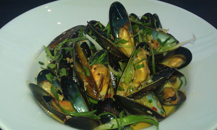 Moroccan Steamed Mussels with Coconut Milk