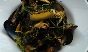 West Coast Mussels in Leek and Dijon Sauce