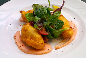 Prawn and Smoked Haddock Choux Pastry Puffs with a Marie Rose Sauce Recipe