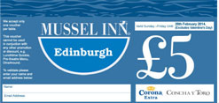 Mussel Inn Edinburgh £5 voucher
