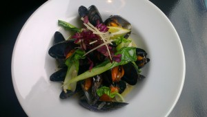 Sweet and Sour Steamed Mussels with Pak Choi