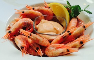 Whole Atlantic prawns with Marie Rose sauce