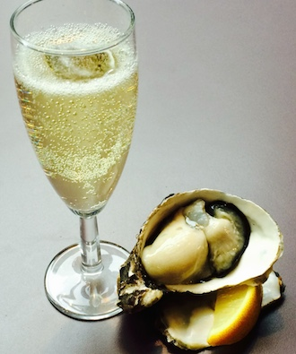 Champagne and one oyster Valentine's Day offer