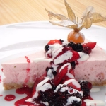 Light Summer Strawberry Cheesecake – a deliciously sweet way to round off your meal.