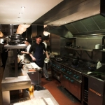 Busy in the Mussel Inn open kitchen – where all the magic happens!