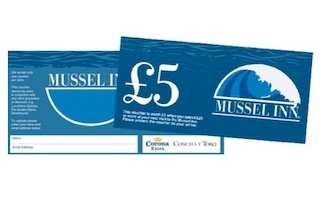 Mussel Inn £5 restaurant voucher Edinburgh Glasgow
